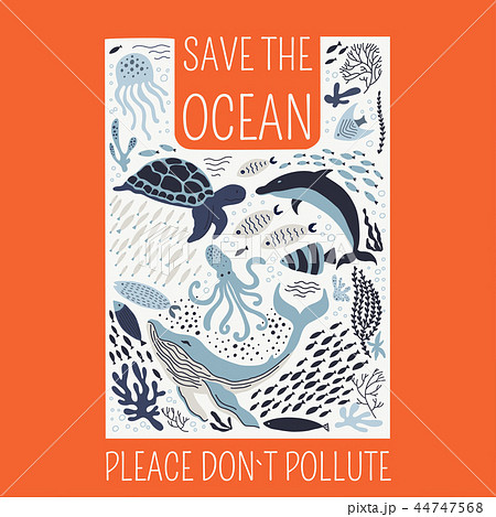 Save the ocean please do not pollute poster. 44747568