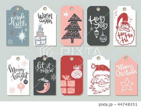 Collection of vector Christmas and New Year cute ready-to-use gi 44748351