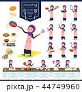 女性 ムスリム 料理のイラスト 44749960