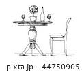 椅子 チェア いすのイラスト 44750905