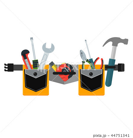 Belt with tools. Conceptual image of tools for repair 44751341