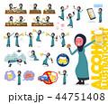 女性 シニア ムスリムのイラスト 44751408