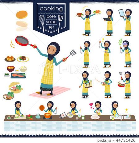 flat type Arab old women_cooking 44751426