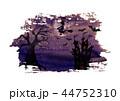ハロウィン 人影 影のイラスト 44752310