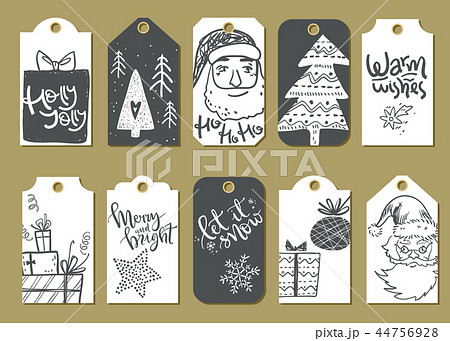 Collection of vector Christmas and New Year cute ready-to-use gi 44756928