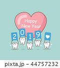 Happy new year with tooth 44757232
