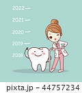 Happy new year with dentist 44757234