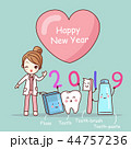 cartoon dentist with 2019 44757236