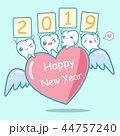 happy new year with tooth 44757240