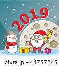 Santa Claus and snowman 44757245
