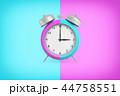 置時計 立体 3Dのイラスト 44758551