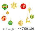 クリスマス クリスマスオーナメント 飾りのイラスト 44760189