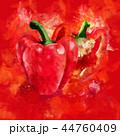 野菜 赤い ピーマンのイラスト 44760409