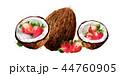 ココナツ いちご イチゴのイラスト 44760905