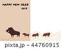年賀用フォトフレーム-シンプル-happy new year 44760915
