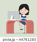 仕事場 コンピュータ コンピューターのイラスト 44761283