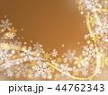 雪 雪の結晶 背景のイラスト 44762343
