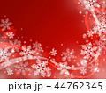 雪 雪の結晶 背景のイラスト 44762345