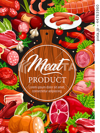Meat and sausages butcher delicatessen products 44763960