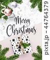 メリー クリスマス カードのイラスト 44764379