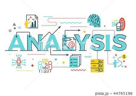 Analysis word lettering illustration 44765196