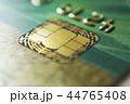 Gold credit cards close up. Macro shot smart card, credit card chip 44765408