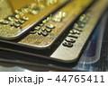 Gold and platinum credit cards close up 44765411