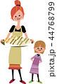 母と娘とサンドウィッチ 44768799