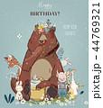誕生日 デザイン 柄のイラスト 44769321