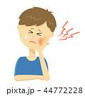 痛い 虫歯 痛みのイラスト 44772228