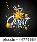 クリスマス バックグラウンド 背景のイラスト 44776984