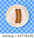 Vector Two Realistic Boiled Sausages 44778108