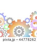 Techno Background with Geometric Gear Wheels 44778262