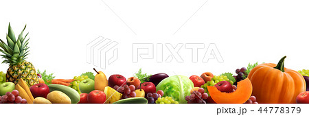 Fruits And Vegetables Horizontal Composition 44778379