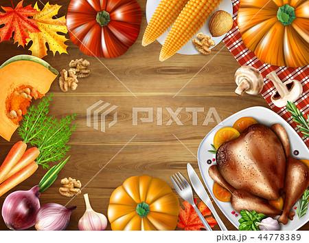 Thanksgiving Day Still Life Composition 44778389