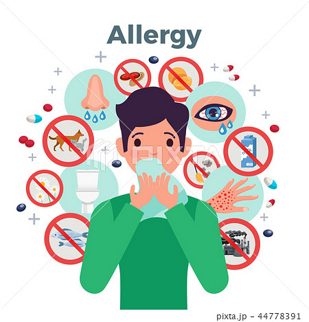 Allergy Concept Illustration 44778391