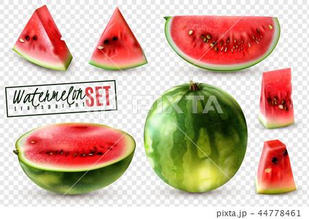 Watermelon Realistic Transparent Set  44778461