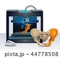 立体 3D 3Dのイラスト 44778508