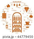 ワイン造り 農耕 収穫のイラスト 44779450