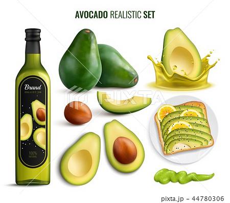 Avocado Realistic Set 44780306