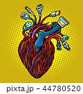 ハート ハートマーク 心臓のイラスト 44780520