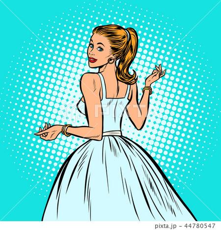bride, beautiful woman in a white dress 44780547