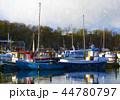 ボート 波止場 漁船のイラスト 44780797