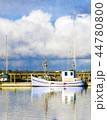 ボート 波止場 漁船のイラスト 44780800