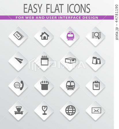 Post service icons set 44781190