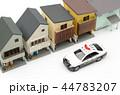 住宅街 住宅地 パトカーの写真 44783207