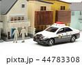 住宅街 パトカー パトロールの写真 44783308