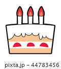 ケーキ ショートケーキ 誕生日のイラスト 44783456