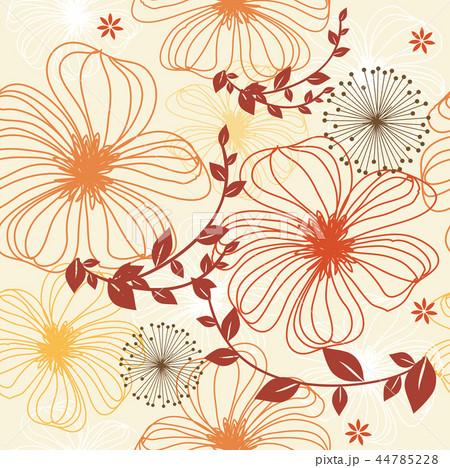 デザイン 花 植物のイラスト素材 44785228 Pixta