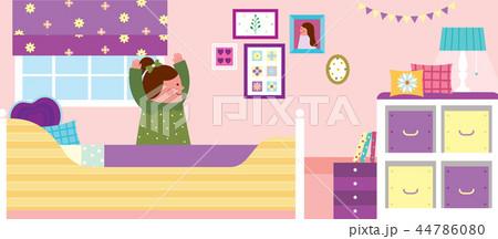 ベッド 寝台 朝 44786080